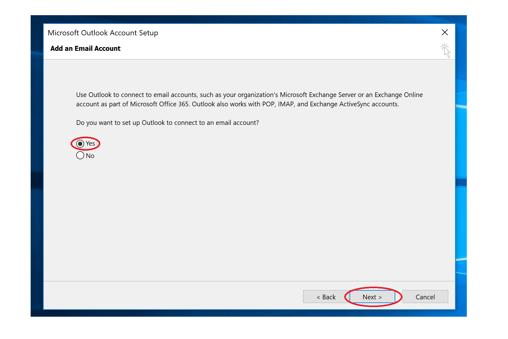 How to setup your NCKCN email account using an email client on
